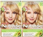 2 x GARNIER NUTRISSE PERMANENT HAIR COLOUR CREAM 10 VERY LIGHT BLONDE